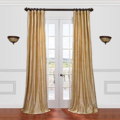 Textured Dupioni Silk Single Curtain Panel Product Photo