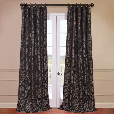 Astoria Faux Silk Jacquard Single Curtain Panel Product Photo
