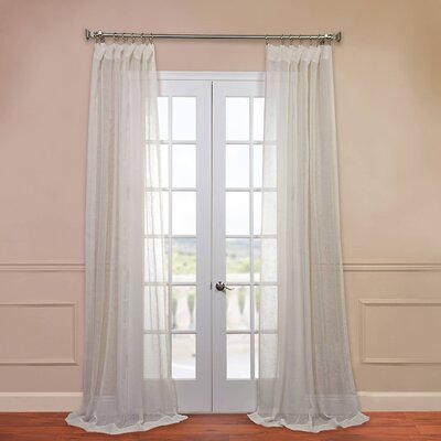 Open Weave Linen Sheer Single Curtain Panel Product Photo