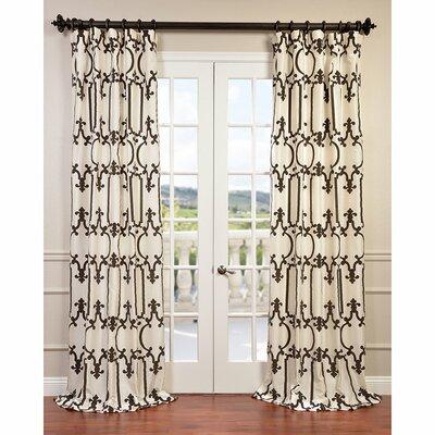 Royal Gate Flocked Taffeta Single Curtain Panel Product Photo