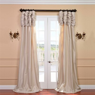 Taffeta Ruched Curtain Panel Product Photo
