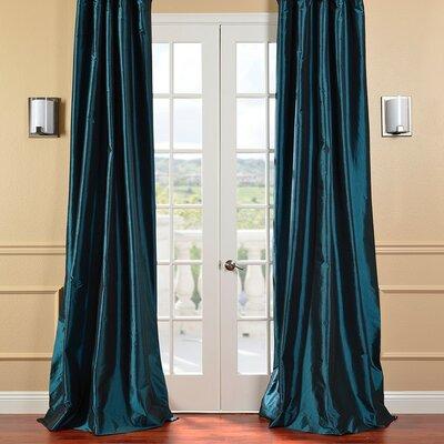 Faux Solid Taffeta Single Curtain Panel Product Photo