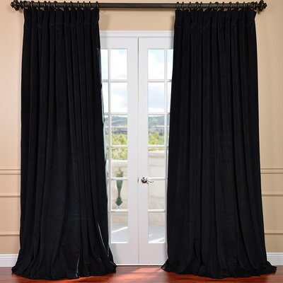 Signature Double Wide Velvet Rod Pocket  Single Curtain Panel Product Photo