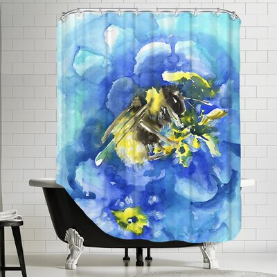 Bee Shower Curtain by Americanflat