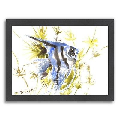 Angelfish Aquarium Framed Painting Print by Americanflat