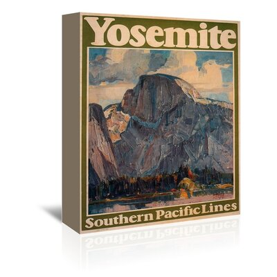Yosemite Vintage Advertisement on Wrapped Canvas by Americanflat