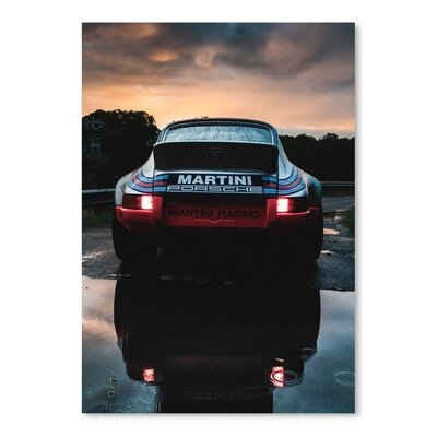 Martini Porsche Photographic Print by Americanflat