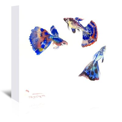 Guppy Aquarium Painting Print on Wrapped Canvas by Americanflat