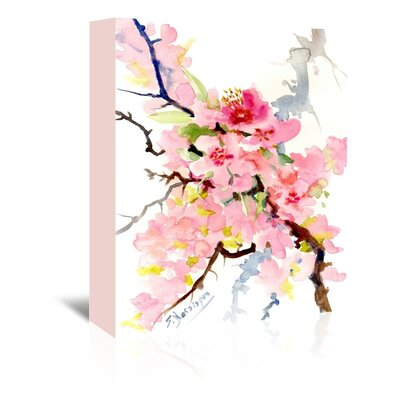 Cherry Blossom 3 Painting Print on Wrapped Canvas by Americanflat