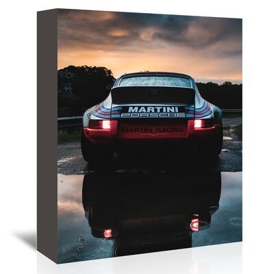 Martini Porsche Photographic Print on Wrapped Canvas by Americanflat