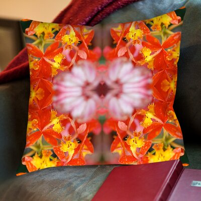 Yellow Orchids Throw Pillow by Americanflat