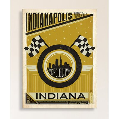 Indianapoli Circle City Framed Vintage Advertisement by Americanflat