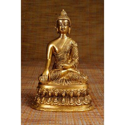 Miami Mumbai Brass Series Medicine Buddha with Carving Figurine