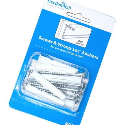 Organized Living freedomRail Screws and Strong-Loc Anchors Product Photo