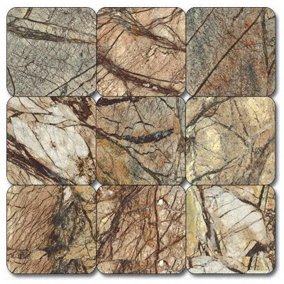 Cafe Forest 1'' x 1'' Marble Mosaic Tile in Brown by MSI