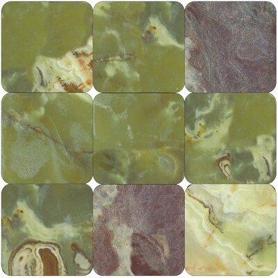 MS International Green Onyx 12'' x 12'' Onyx Field Tile in Polished Green