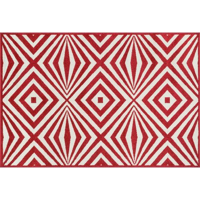 Loloi Rugs Catalina Red Amp White Indoor Outdoor Area Rug