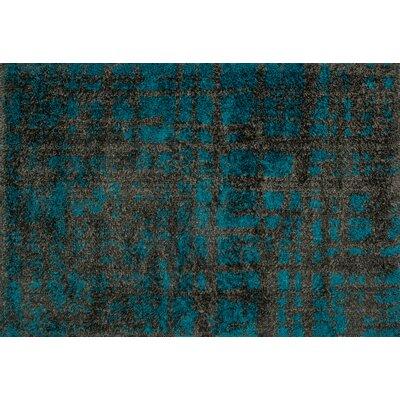 loloi rugs barcelona shag charcoal dark teal rug reviews wayfair. Black Bedroom Furniture Sets. Home Design Ideas