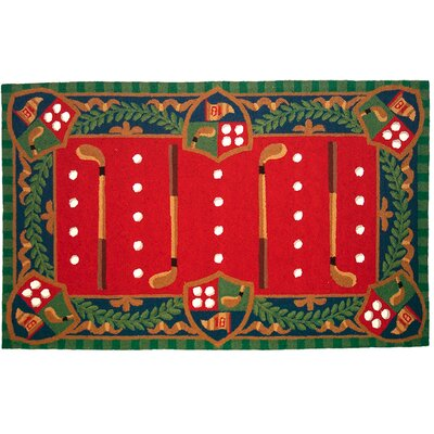 123 Creations Whimsical Golf Hook Area Rug