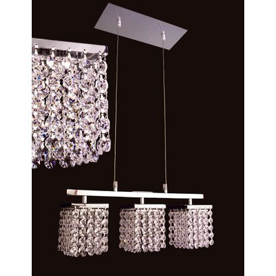 Bedazzle 3 Light  Linear Chandelier Product Photo