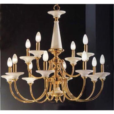 Classic Lighting Spanish Ceramic 12 Light Chandelier