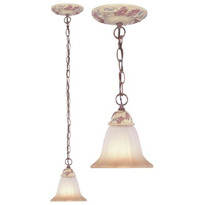 Tapestry 1 Light Pendant by Classic Lighting
