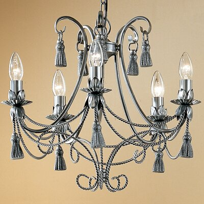 Rope and Tassel 5 Light Chandelier by Classic Lighting