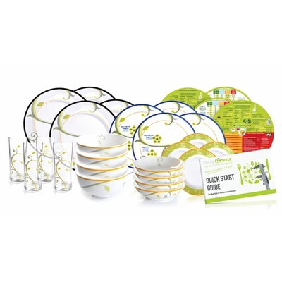 Complete Family Nutrition and Portion Control System 28 Piece Dinnerware Set by PrecisePortions