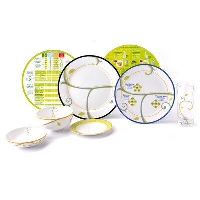 Complete Lifestyle Starter Weight Loss System 7 Piece Dinnerware Set by PrecisePortions