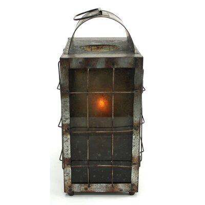 Aspire Cooper Metal and Glass Lantern