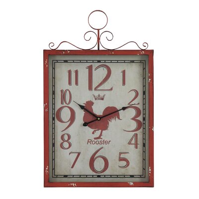 Red Rooster Wall Clock by Aspire
