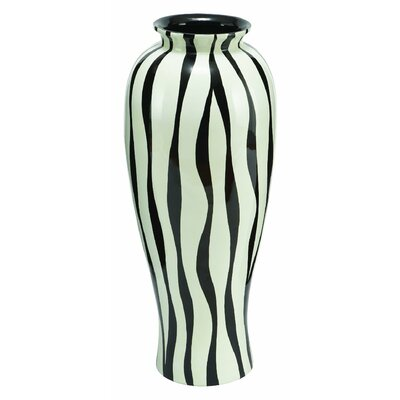Aspire Zebra Print Floral Vase