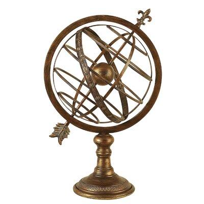 Antique Brass Armillary Sphere Sculpture by Aspire