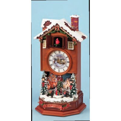 Lighted Cuckoo Clock with Winter Scene by Roman, Inc.