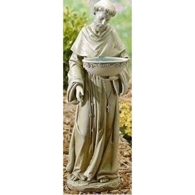 """Roman, Inc. 20"""" St. Francis Birdbath Solar Figurine"""