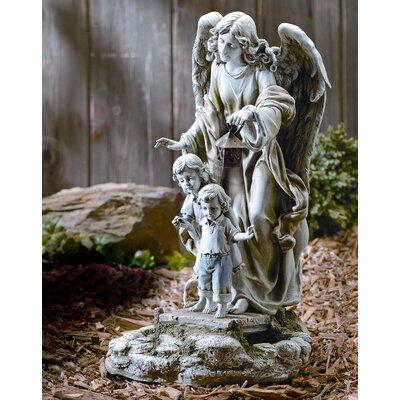 Solar Power Guardian Angel Statue by Roman, Inc.