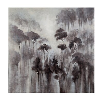Shadows of Flowers Painting Print on Wrapped Canvas by Bassett Mirror