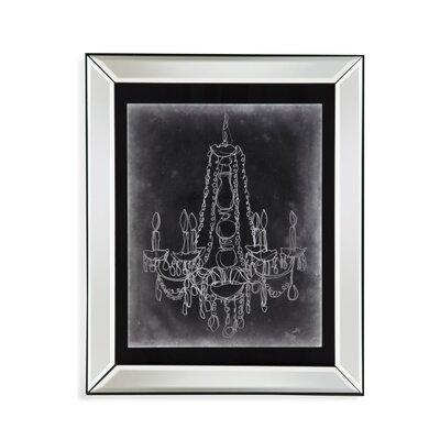 Chalkboard Chandelier Sketch I Framed Graphic Art by Bassett Mirror