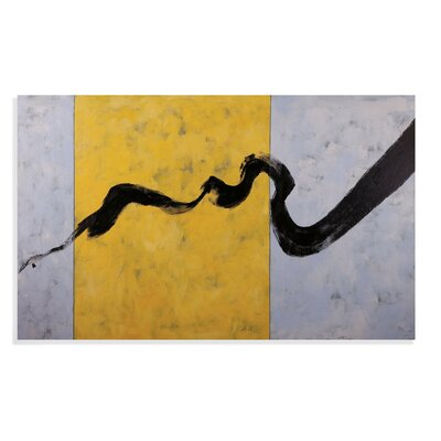 Thoroughly Modern Ribbon in Ink Painting Print on Canvas by Bassett Mirror