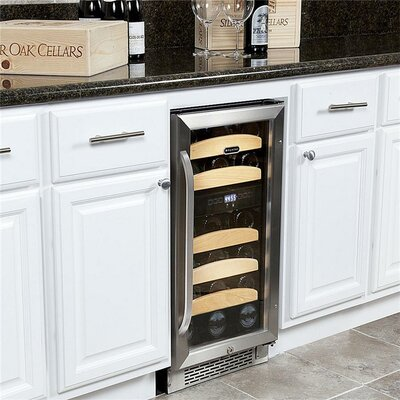 28 Bottle Dual Zone Built-In Wine Refrigerator by Whynter