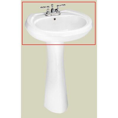 Stafford Center Petite Pedestal Bathroom Sink Product Photo
