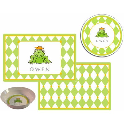 The Kids Tabletop 3 Piece Frog Prince Placemat Set by Kelly Hughes Designs