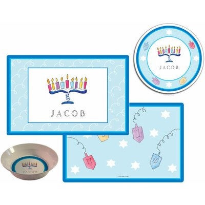 The Kids Tabletop 3 Piece Hanukkah Placemat Set by Kelly Hughes Designs