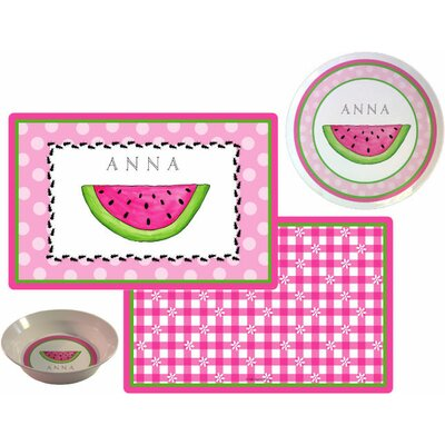 The Kids Tabletop 3 Piece Ant Picnic Placemat Set by Kelly Hughes Designs