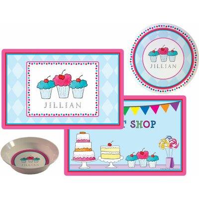The Kids Tabletop 3 Piece Sweet Shop Placemat Set by Kelly Hughes Designs