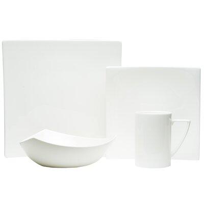 Extreme White 16 Piece Dinnerware Set by Red Vanilla