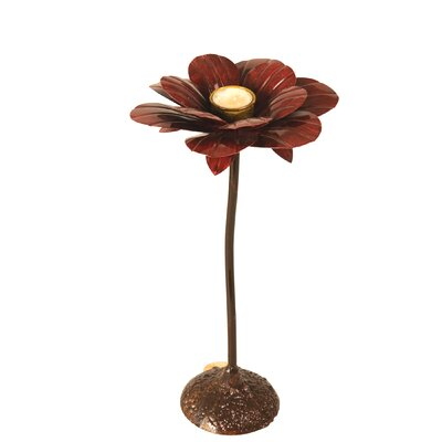 Wilco Home Flower Metal Candlestick