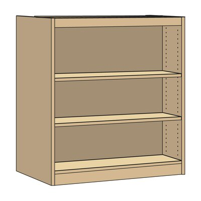 "Virco Double-Faced Starter Library 42"" Standard Bookcase"