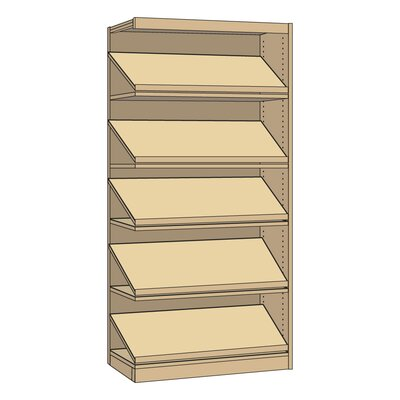 "Virco Single-Faced Library Periodical 82"" Standard Bookcase"