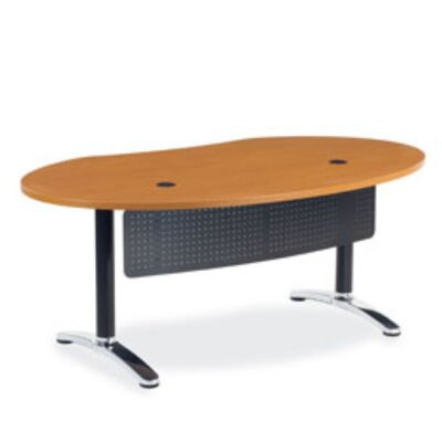Virco Plateau Ellipse Office Training Table with Bi-Point Leg